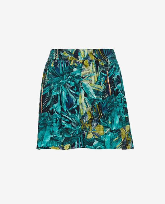 Shorts Palme blau FANCY VISCOSE