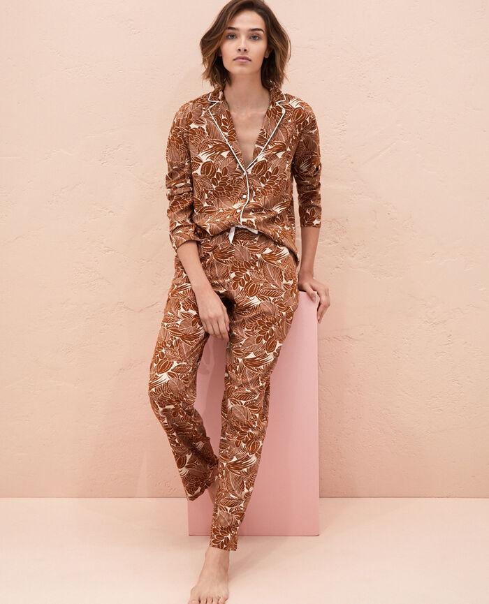 Pyjama-Jacke Botanische Bronze FRESQUE