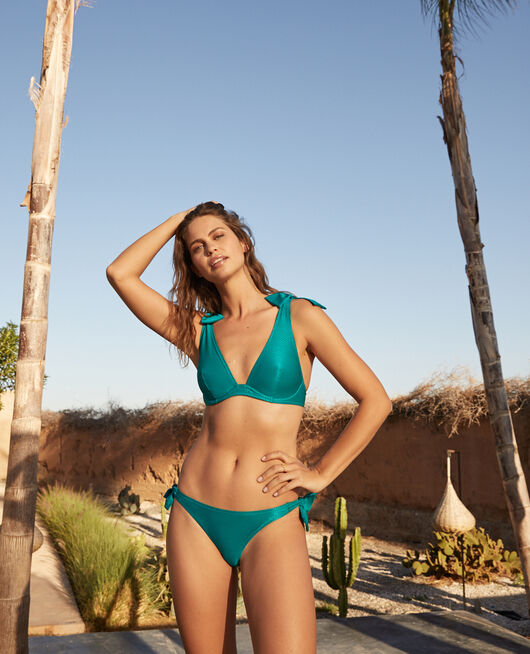 Triangel-Bikini-Oberteil mit Bügeln Aquagrün REVE