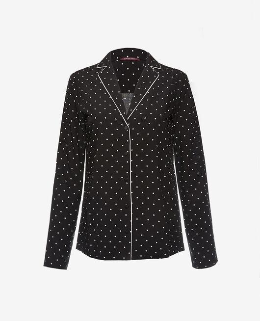 Pyjama-Jacke Dots schwarz CONSTELLATION