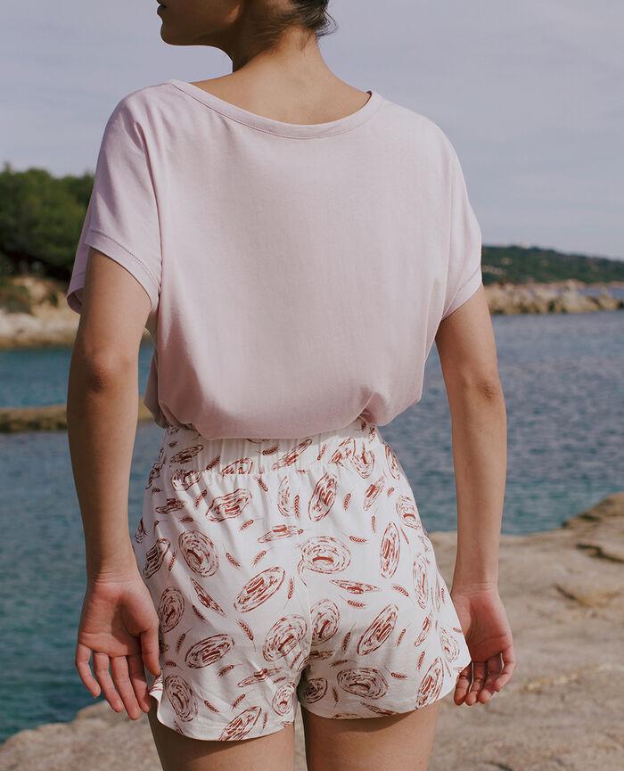 Pyjama-Shorts Strohhut Elfenbein TAM TAM SHAKER