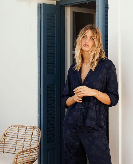 Pyjama-Jacke Marineblau MENARA