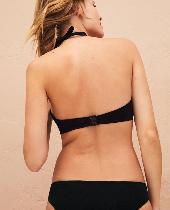Gepolstertes Bandeau-Bikini-Oberteil ohne Bügel Schwarz IMPALA