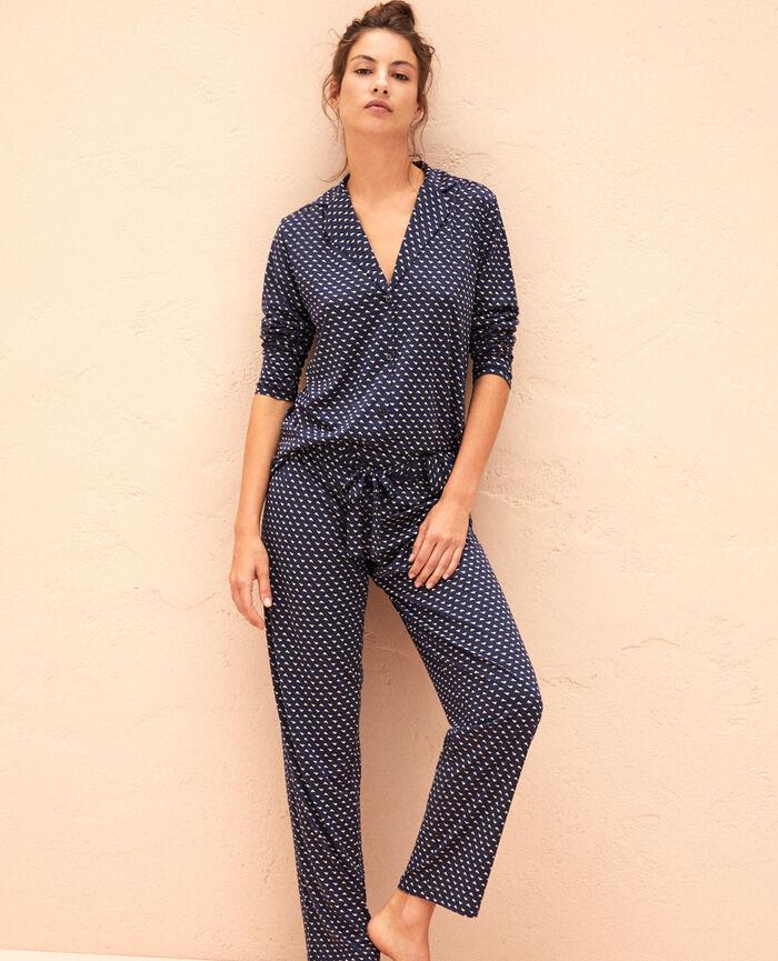 Pyjama Hose Blauer Spatz LATTE