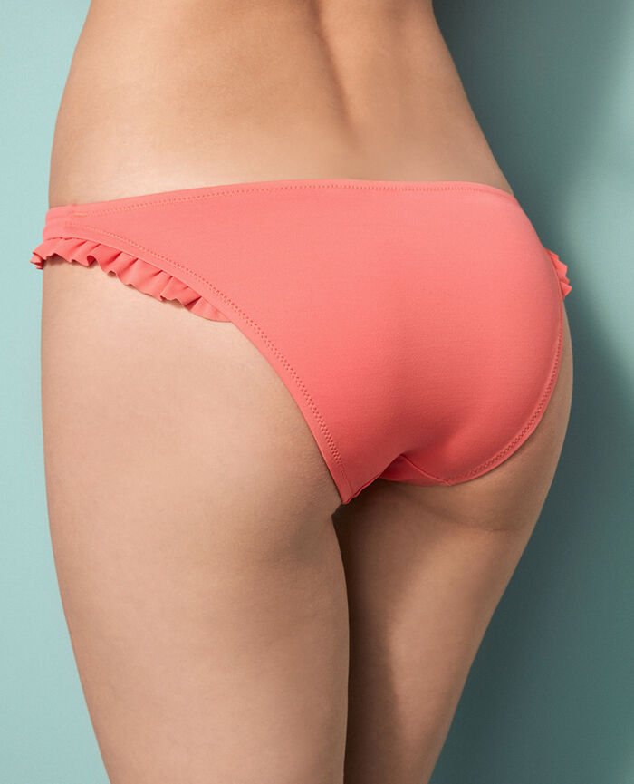 Auschnittenes Bikinislip Korallenorange PRINCESSE TAM.TAM x UNIQLO