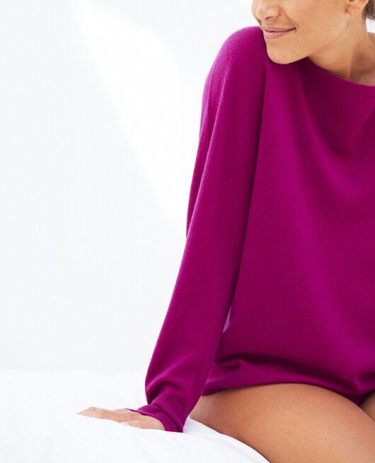 Pullover mit U-Boot-Ausschnitt Violett Krokus COSY