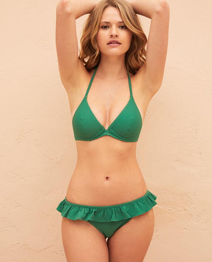 Triangel-Bikini-Oberteil mit Bügeln Minzgrün FARAH