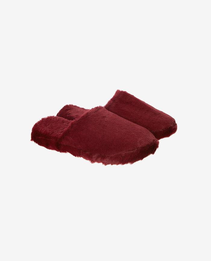 Pantoffeln Leder Rot OSCAR