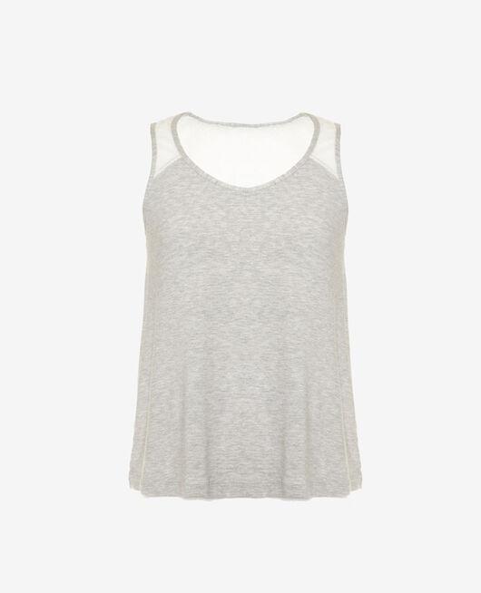 Ärmelloses T-Shirt Grau meliert DOUCEUR