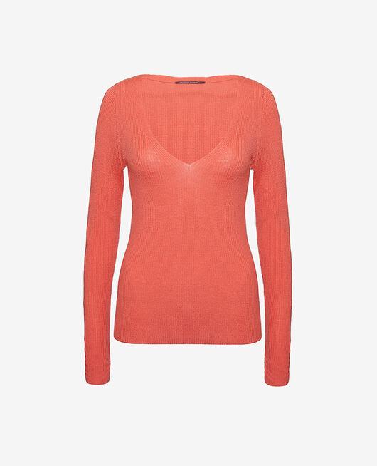 Pullover mit V-Ausschnitt Java rosa COCOON