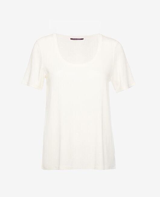 Kurzärmliges T-Shirt Weiß rosé DIMANCHE