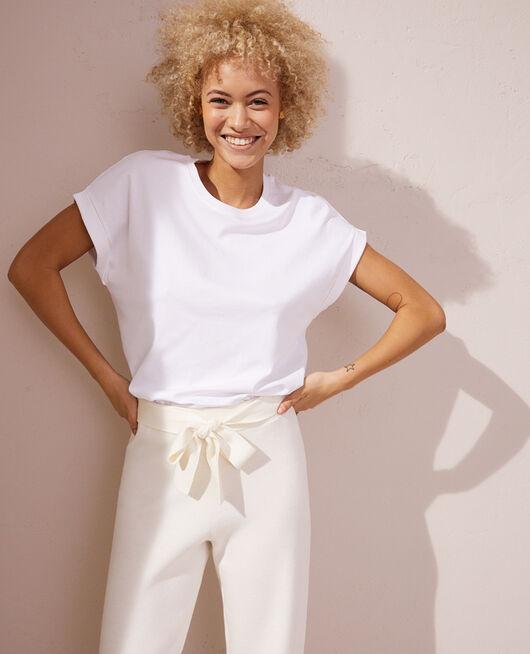 Kurzärmliges T-Shirt Weiß SUPIMA