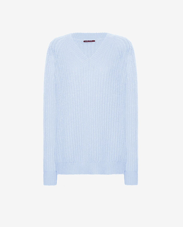 Pullover mit V-Ausschnitt Blauer Nebel SENSATION