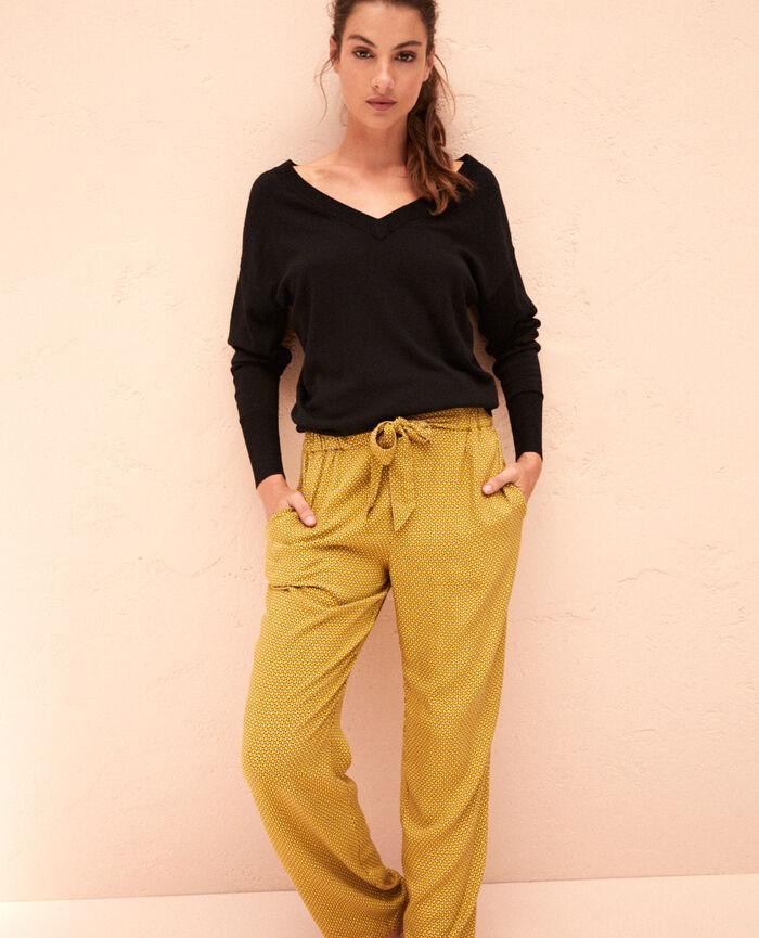 Pullover mit V-Ausschnitt Schwarz HENRI