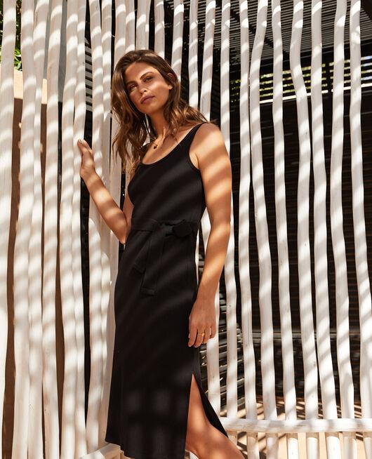 Langes Kleid Schwarz COTE A COTE