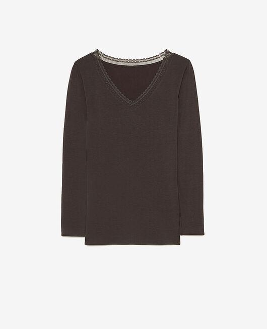 Langärmliges T-Shirt Nebelgrau EXTRA HEATTECH