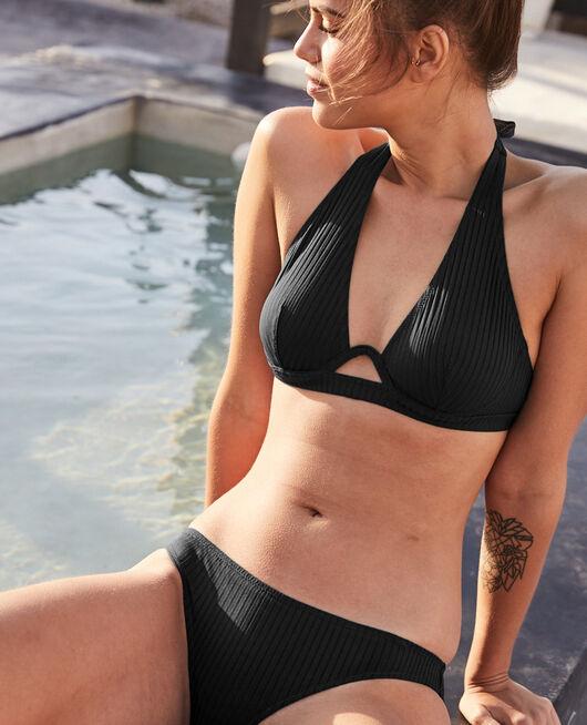 Ausgeschnittener Bikinislip Schwarz COUTURE