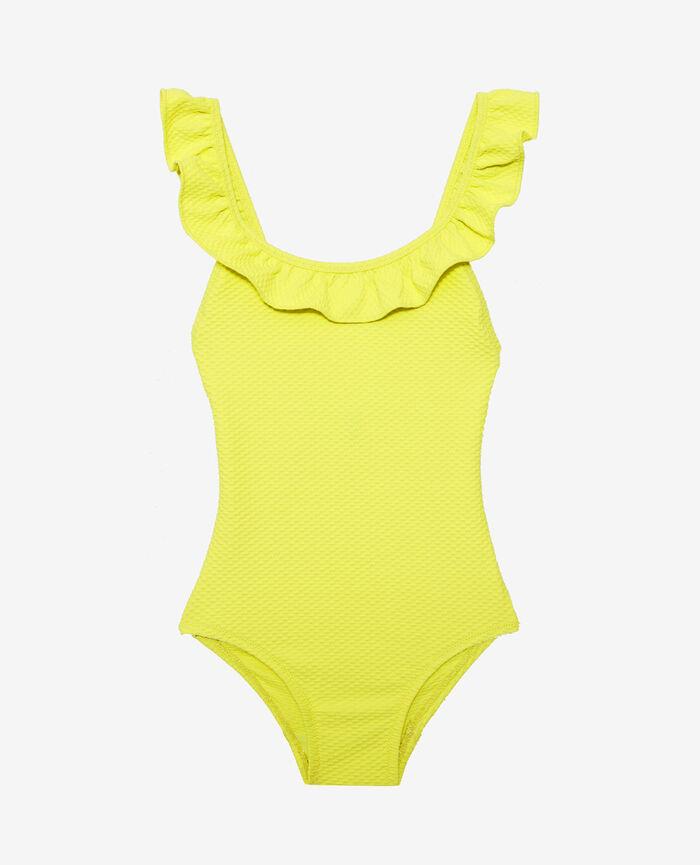 Kinder-Badeanzug Zitrusgelb PHOEBE