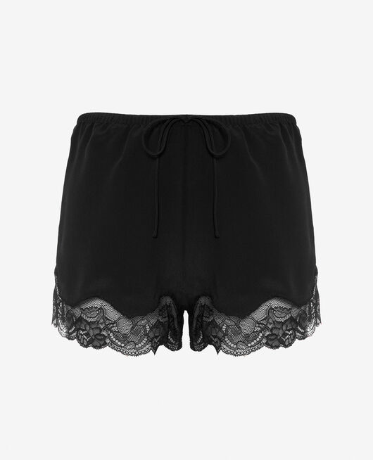 Pyjama-Shorts Schwarz DIVINE