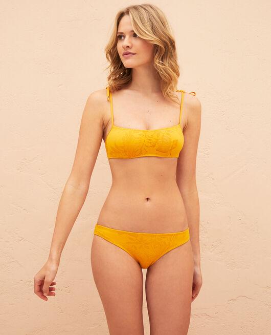 Bandeau-Bikini-Oberteil mit versteckten Bügeln Sahara Gelb GUELIZ