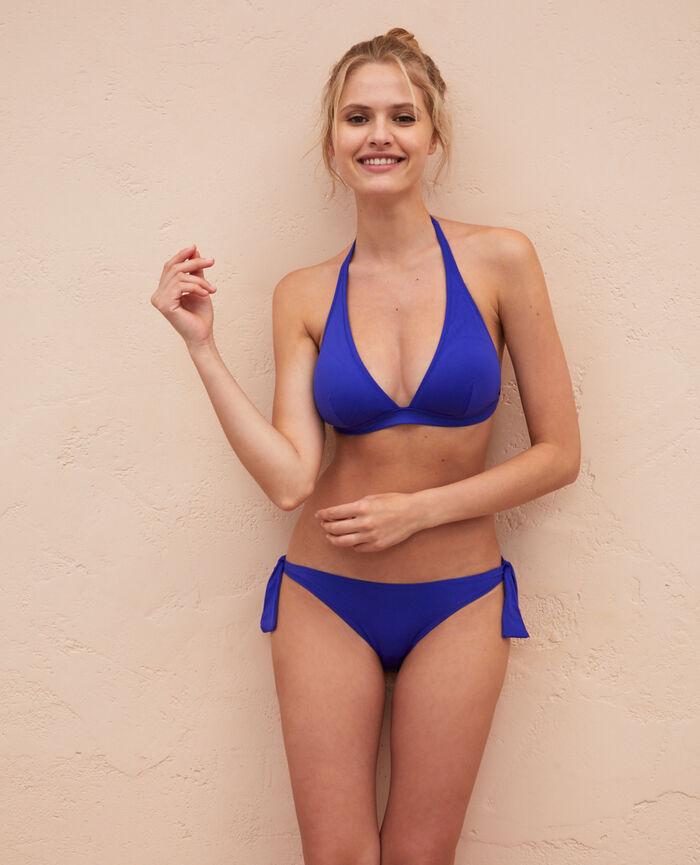 Gepolstertes Triangel-Bikini-Oberteil Mascarablau PRINCESSE TAM.TAM x UNIQLO