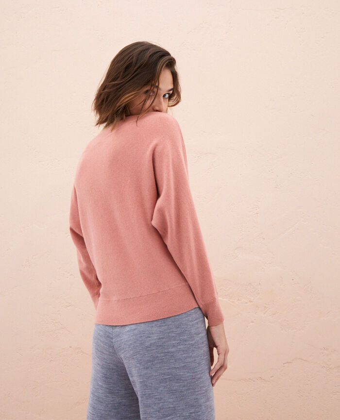 Pullover mit U-Boot-Ausschnitt Rosa Granatapfel ICONE