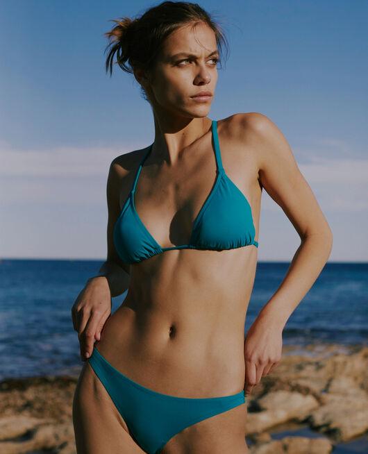 Gepolstertes Triangel-Bikini-Oberteil Aquagrün TWIST