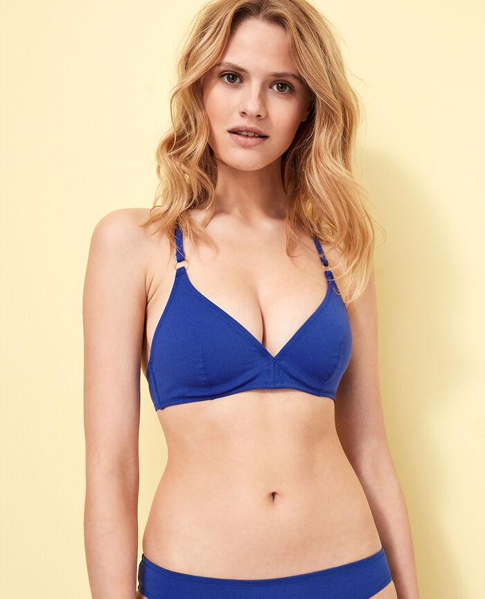 Triangel-Bikini-Oberteil mit Mini-Wire Mascarablau NUMA