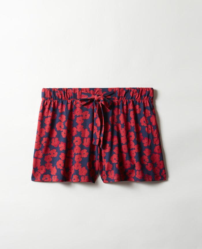 Pyjama-Shorts Hibiskus Marineblau TAM TAM SHAKER