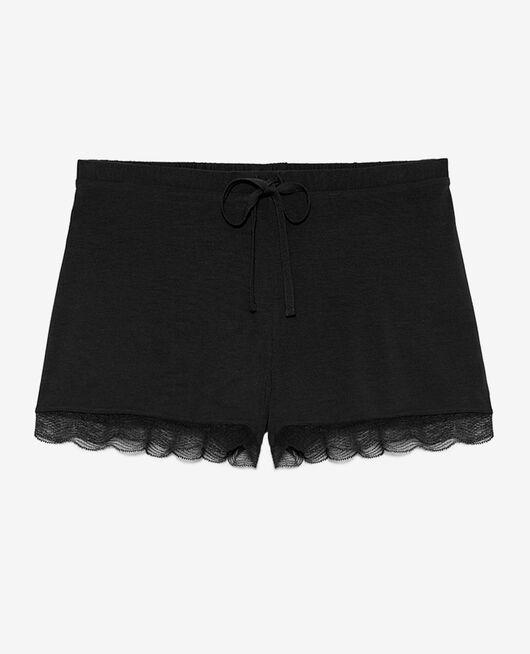 Pyjama-Shorts Schwarz DOUCEUR