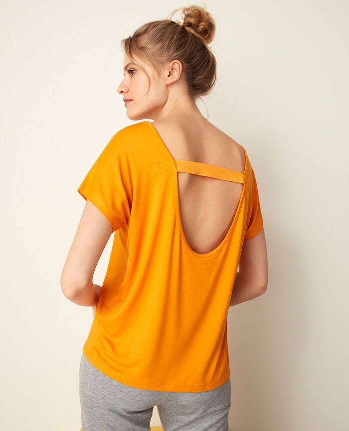 Sport-Shirt mit kurzen Ärmeln Maya Orange YOGA