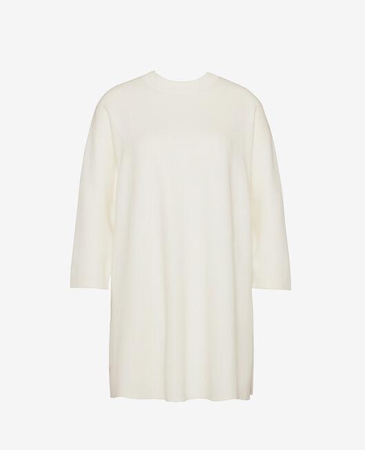 Langärmliges Nachthemd Elfenbeinfarben NATUREL