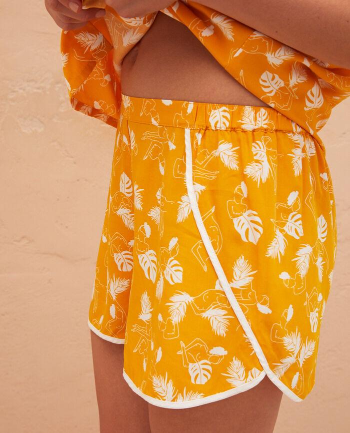Pyjama-Shorts Hammam Gelb BAHIA