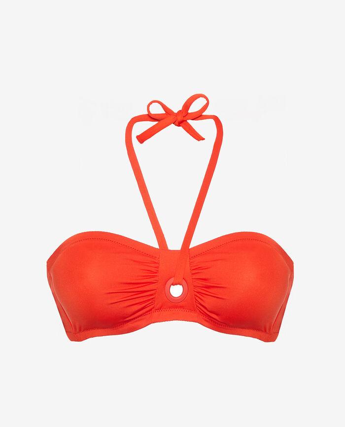 Bandeau-Bikini-Oberteil ohne Bügel Pamela Rot IMPALA