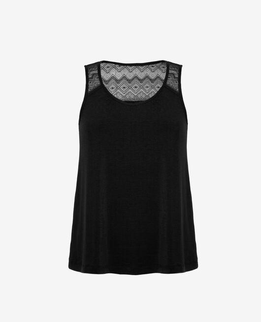 Ärmelloses T-Shirt Schwarz DOUCEUR