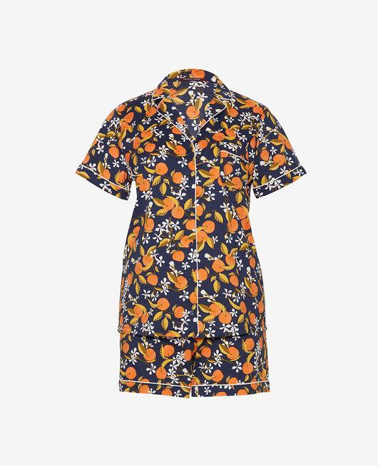 Pyjama-Set Orangenbaum marineblau TUTTI FRUTTI