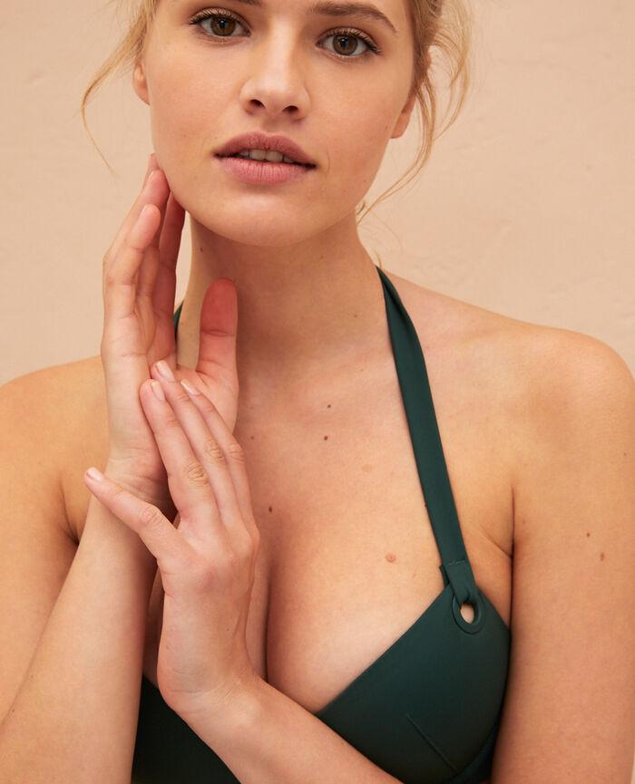 Push-up-Bikini-Oberteil Keramik Grün IMPALA