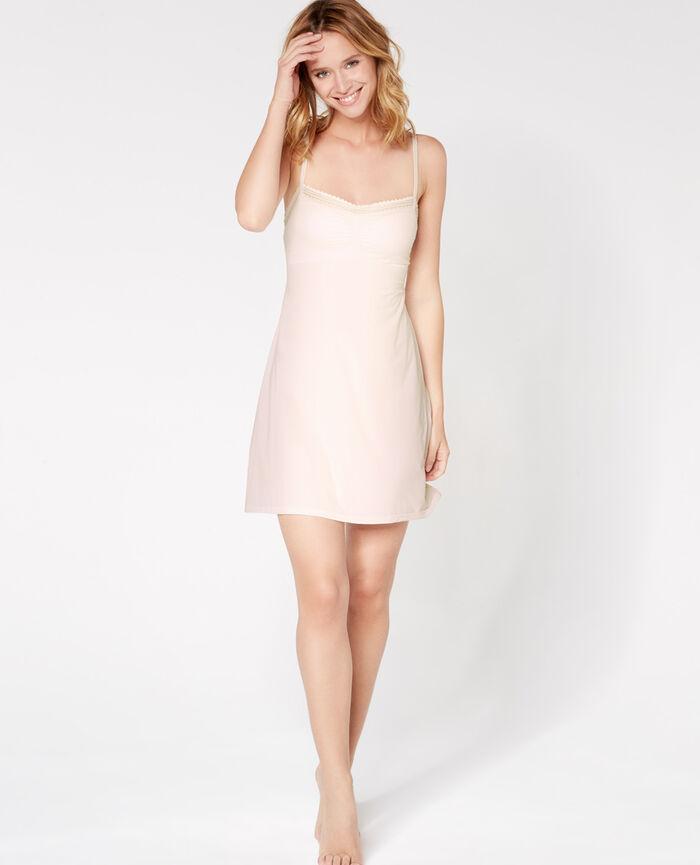 Kleid mit integriertem BH Weiß rosé BEAUTE