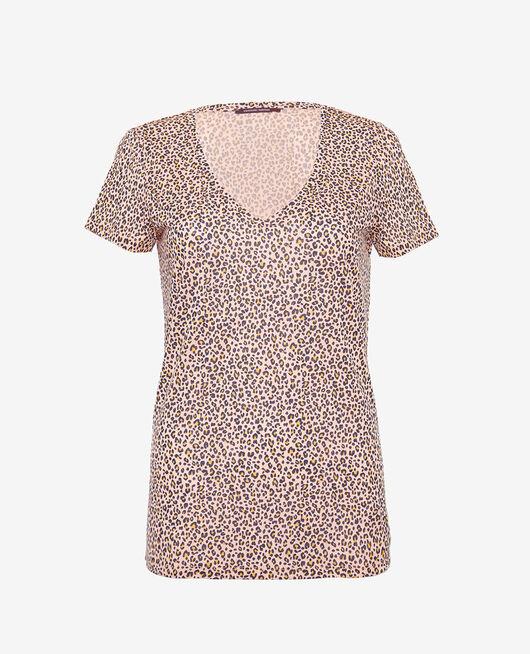 Kurzarm-T-Shirt Leo rose LATTE