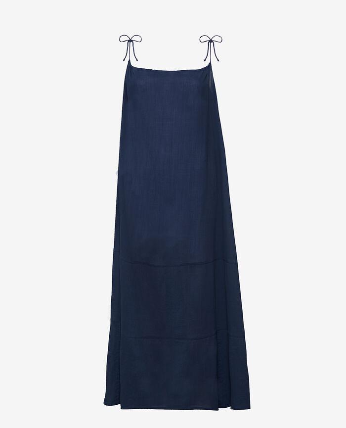 Langes Maxi-Kleid Nachtblau MELLAH