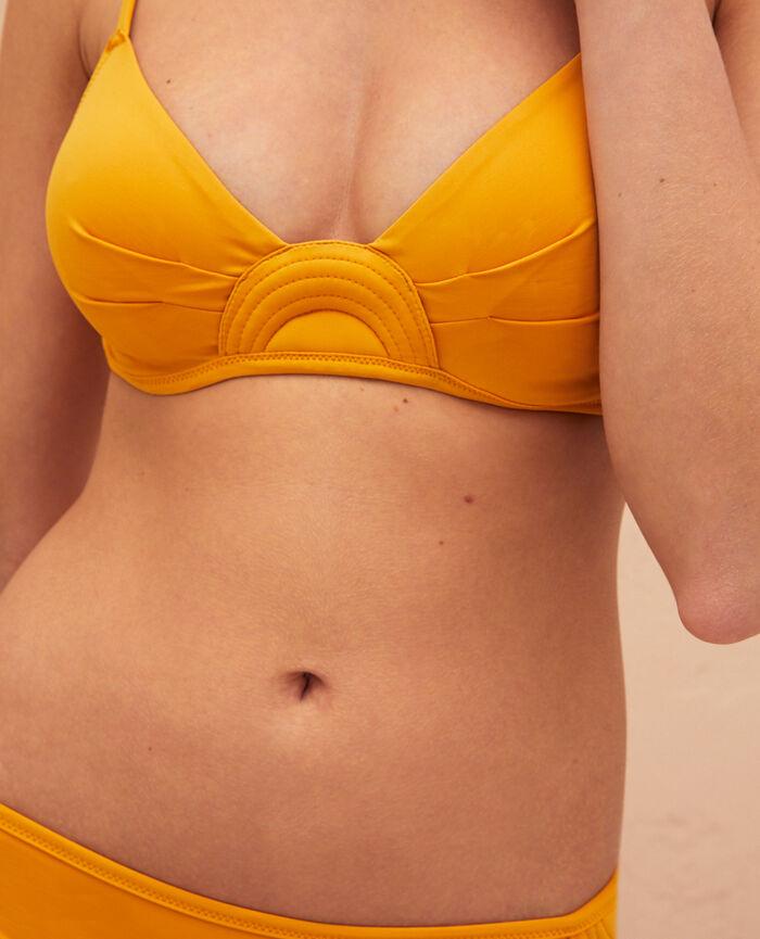Bandeau-Bikini-Oberteil mit versteckten Bügeln Sahara Gelb BARAKA
