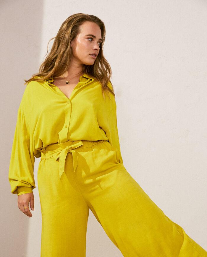 Pyjama-Jacke Anisgrün LOUNGE VISCOSE