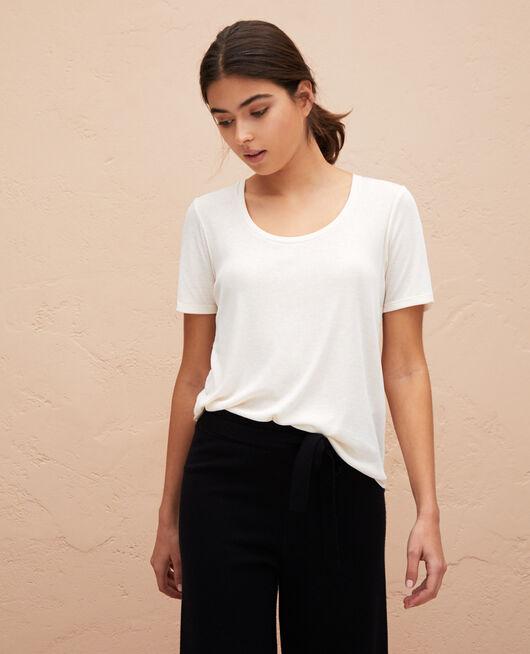 Kurzarm-T-Shirt Weiß rosé LATTE