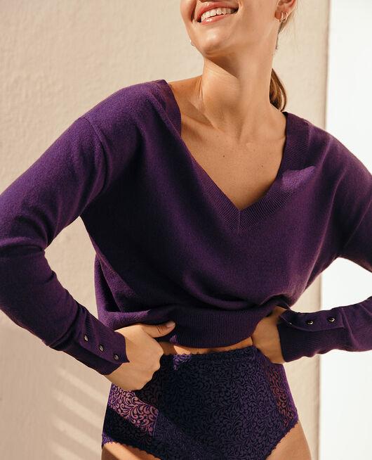 Pullover mit V-Ausschnitt Cabaret blau ICONE