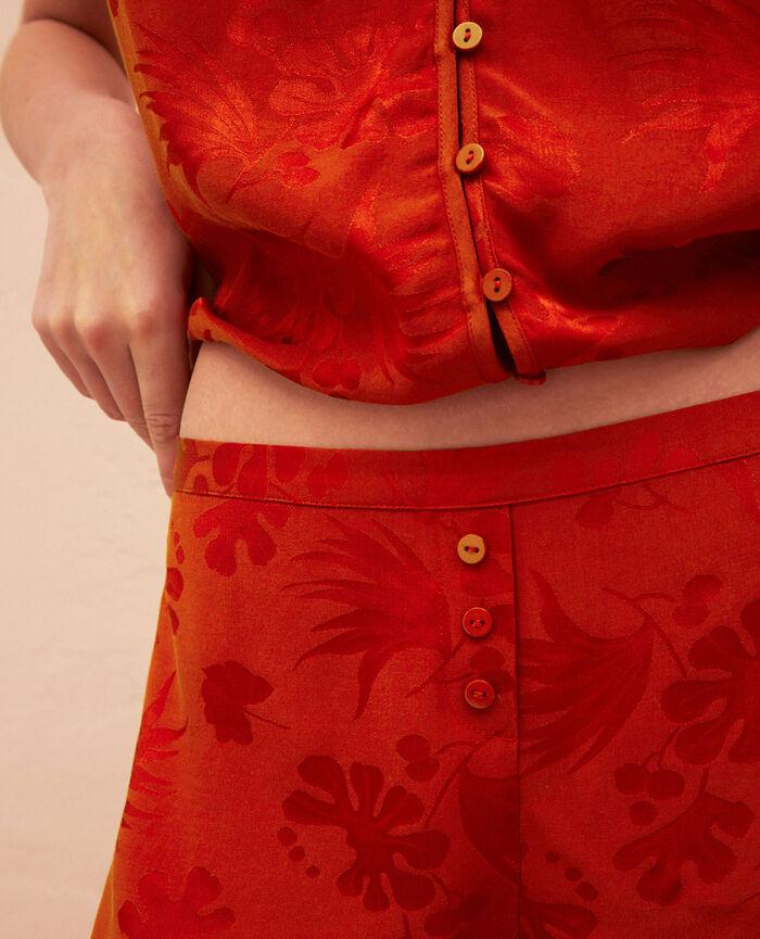 Pyjama-Shorts Terracotta MENARA