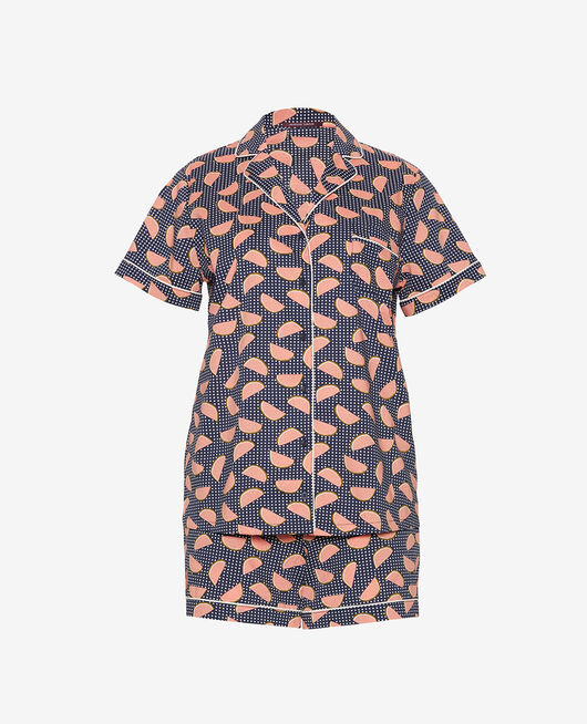 Pyjama-Set Frucht marineblau TUTTI FRUTTI