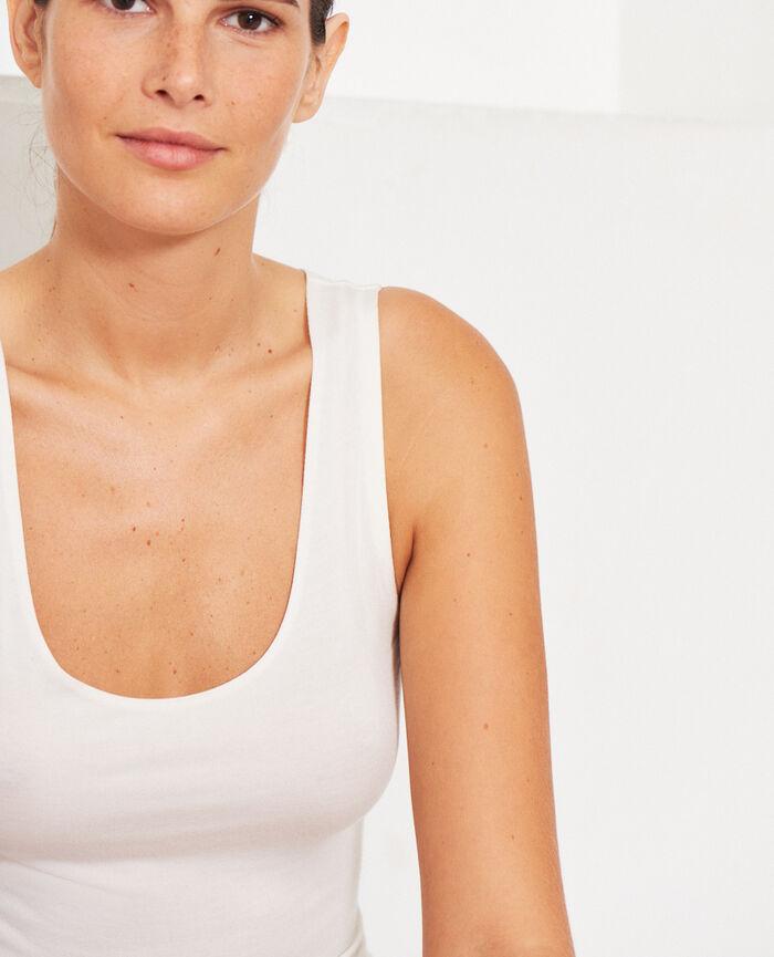 Ärmelloses T-Shirt Cremeweiß HEATTECH® INNERWEAR