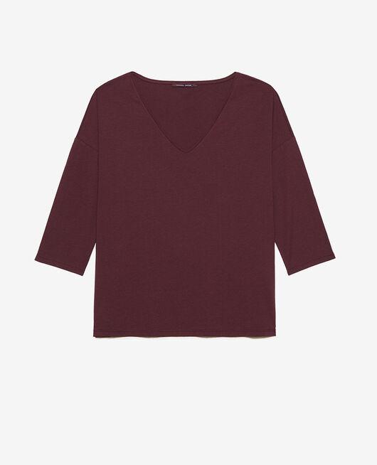 Langärmliges T-Shirt Pflaume PARESSE