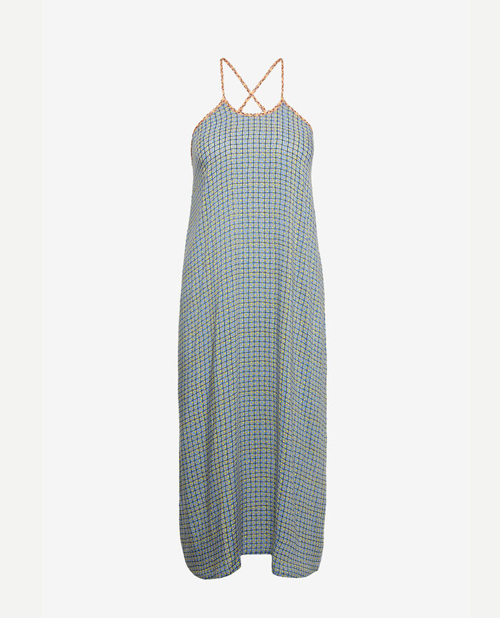 Kleid Kacheln Blau VACANZE