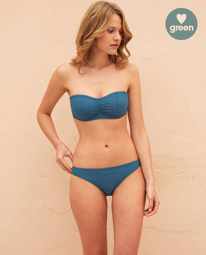 Ausgeschnittener Bikinislip Smaragdgrün NIALA